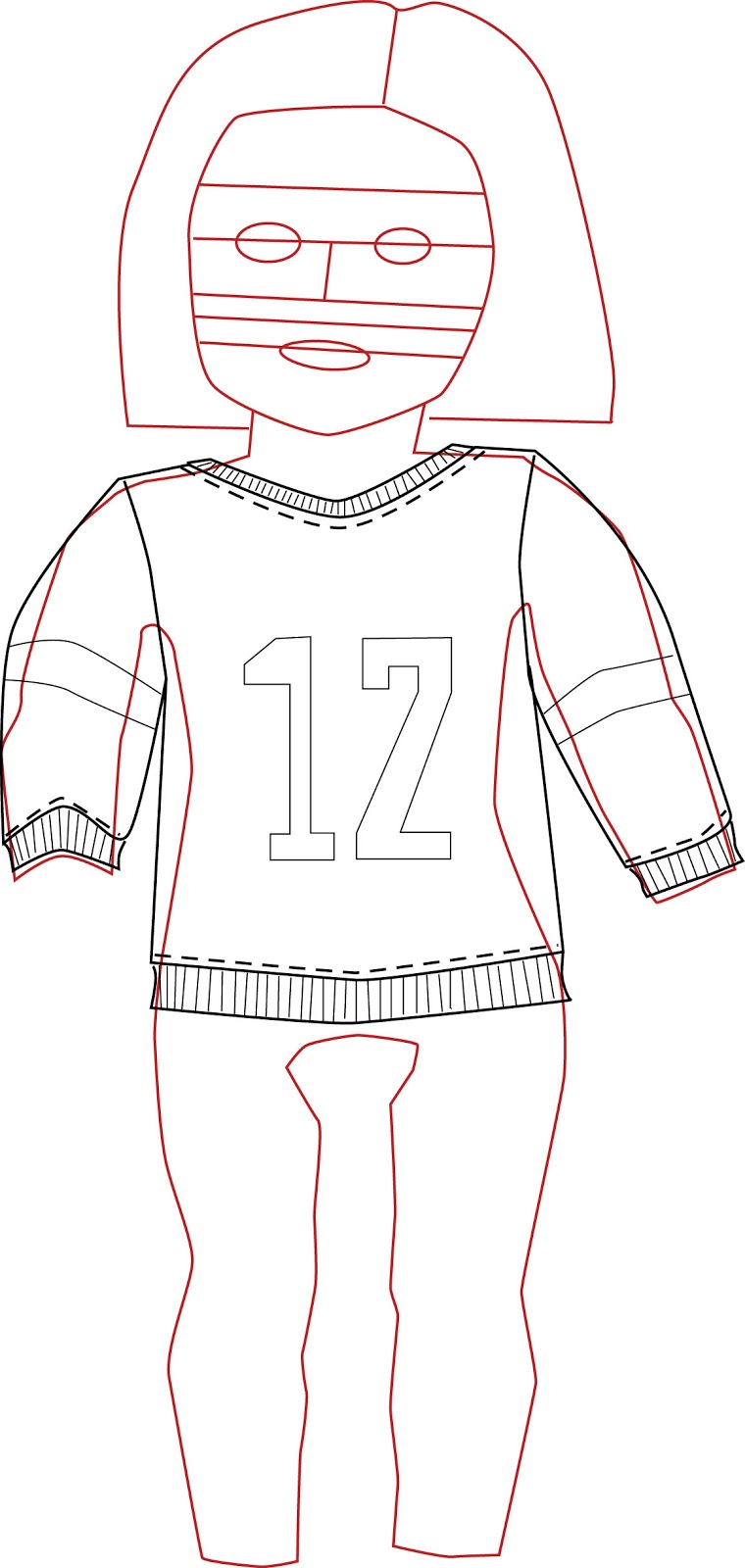 Doll Clothes Patterns by Valspierssews: My Design Process - from the ...