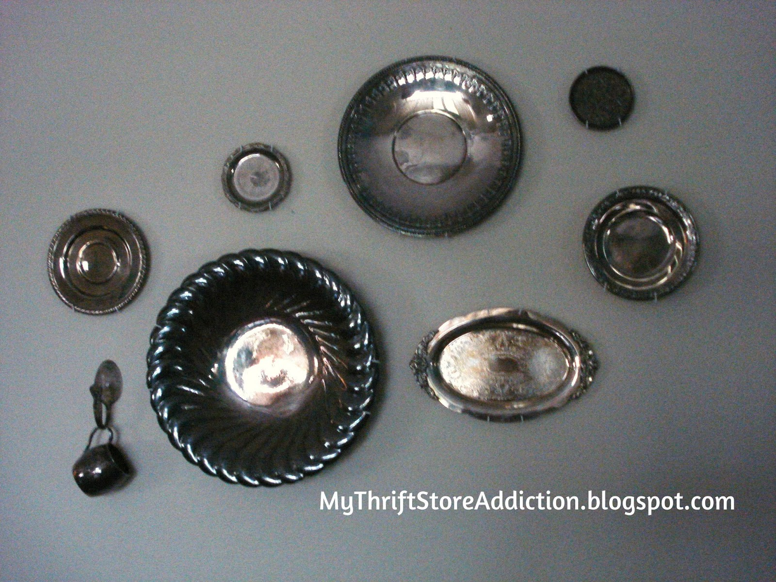 vintage silver wall collage