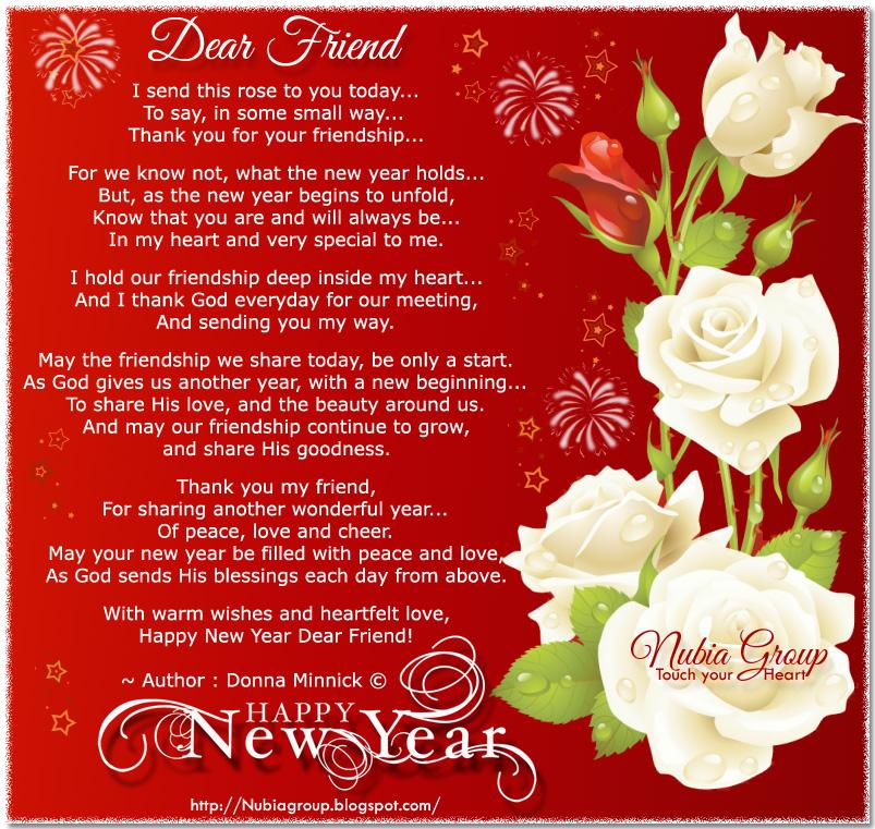 * Nubia_group Inspiration *: Happy New Year Dear Friend