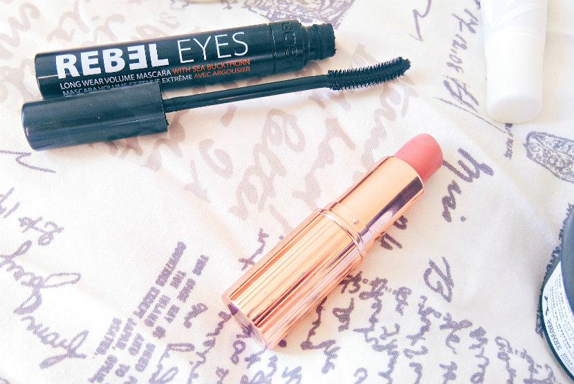 GOSH Rebel Eyes Mascara; Charlotte Tilbury Bitch Perfect Lipstick