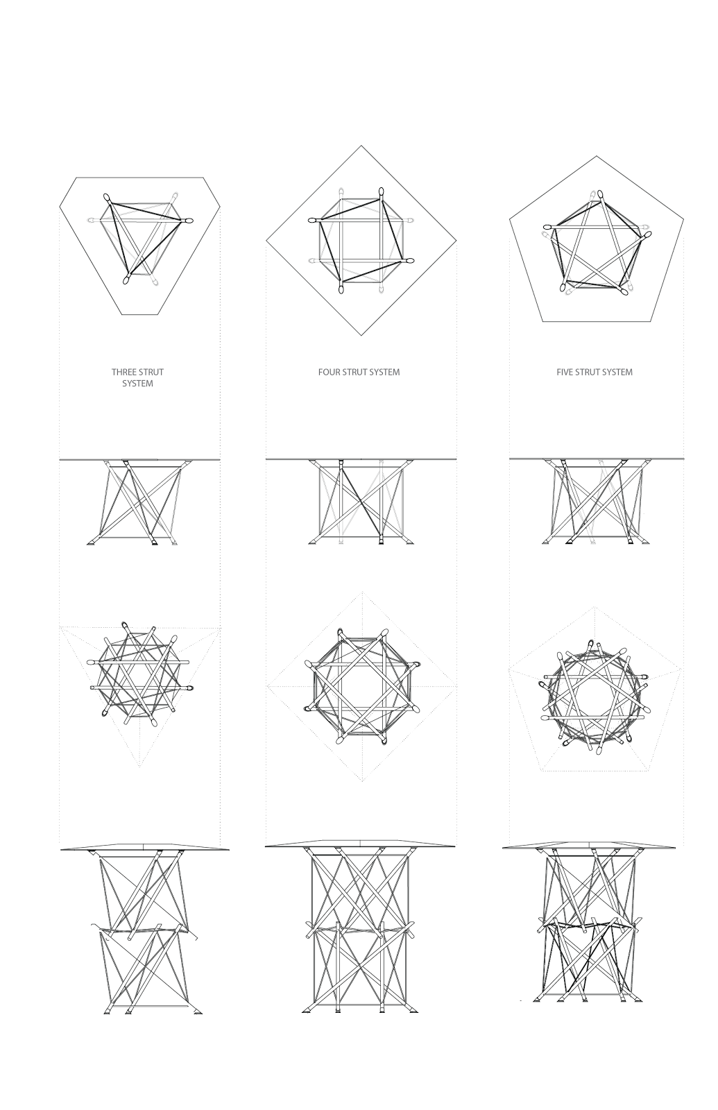 From Three-Strut Tensegrity To Four-Bar Linkage | Tensegrity Wiki ...