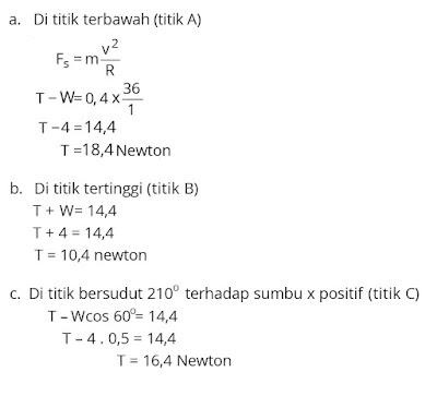 Jawaban soal fisika tentang gerak melingkar nomor 5