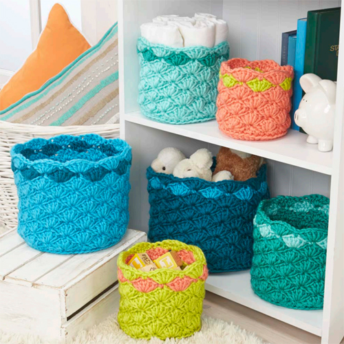 Rainbow Baskets - Free Pattern