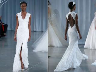 Modelos de vestido de noiva rendado simples