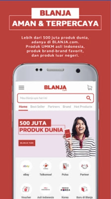 aplikasi jual beli online terpercaya di android blanja.com