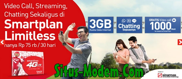 Baru !!! Paket Smartplan Limitles Smartfren : Paket Khusus Chatting BBM, Line, dan Whatapp Sepuasnya, Mau ?