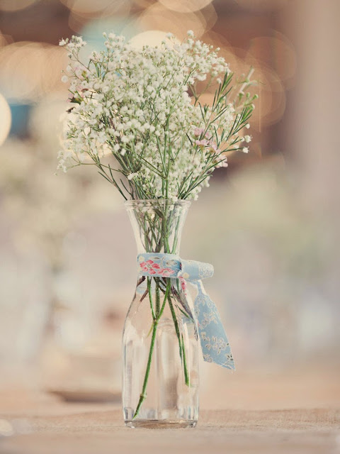 Baby's breath and jar