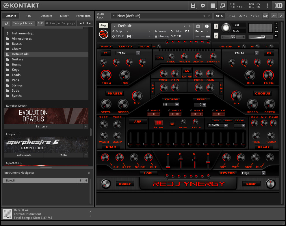 SonicXpansion - Red Synergy KONTAKT Library