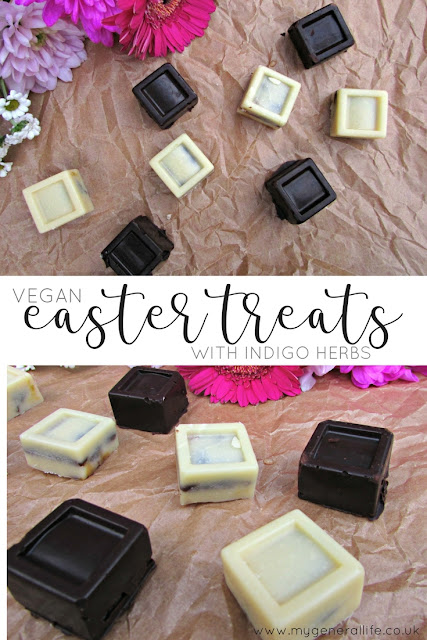 Here's some decadent Easter treats in collaboration with Indigo Herbs. All cruelty free and vegan and, if you ask me, delicious!