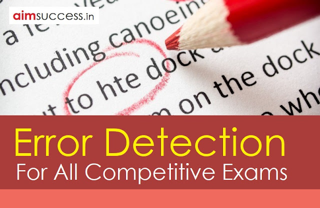 Error Detection  for SBI PO/Clerk 2018: 16 May
