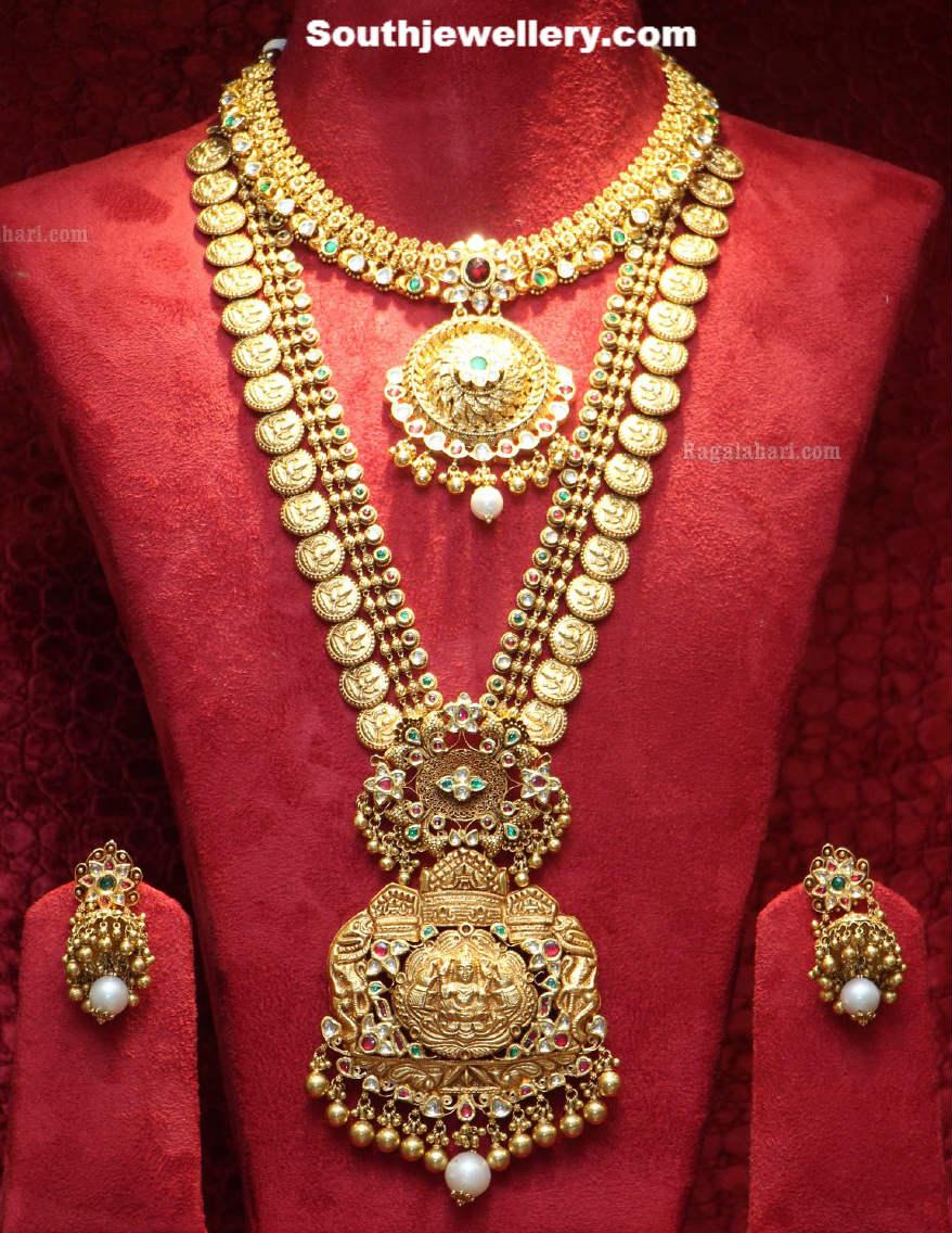 Kasula peru with lakshmi pendant jewellery designs for Designs com