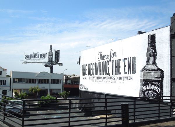 Jack Daniel's Sunset Strip Music Festival billboards