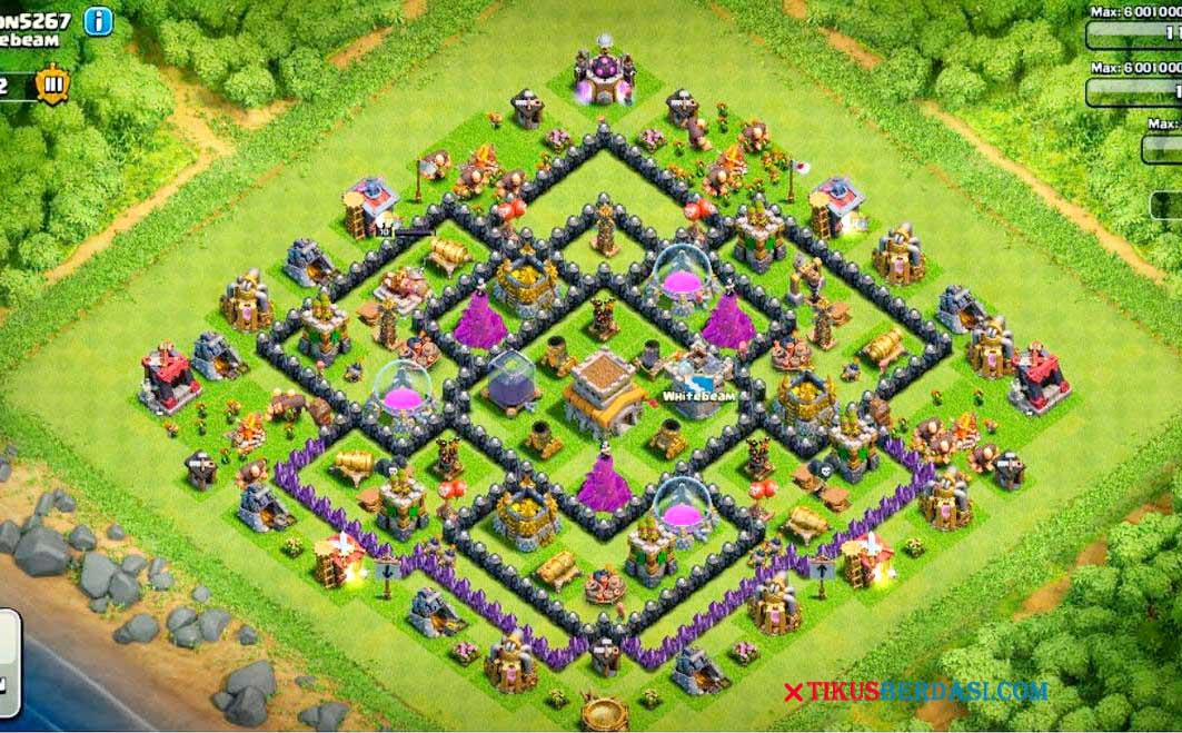 Base Coc Th 8 Paling Kuat Di Dunia 4