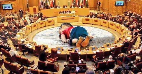 karikatura trogodisnjeg sirijca