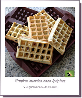 Vie quotidienne de FLaure : Gaufres sucrées chocolat /coco ou salées fromage /bacon cuites au four