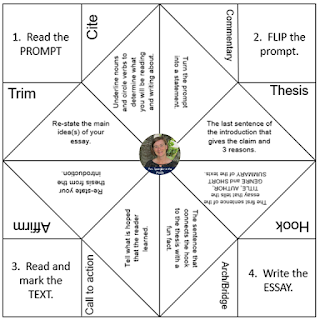 Free Printable - Essay Vocabulary Review Fortune Teller!