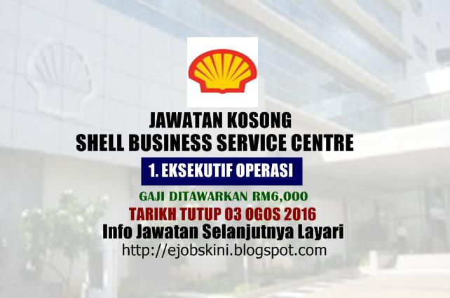 Jawatan kosong Shell Business Service Centre ogos 2016