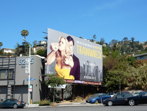Trainwreck film billboard