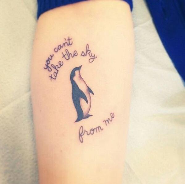 tatuagem pinguim