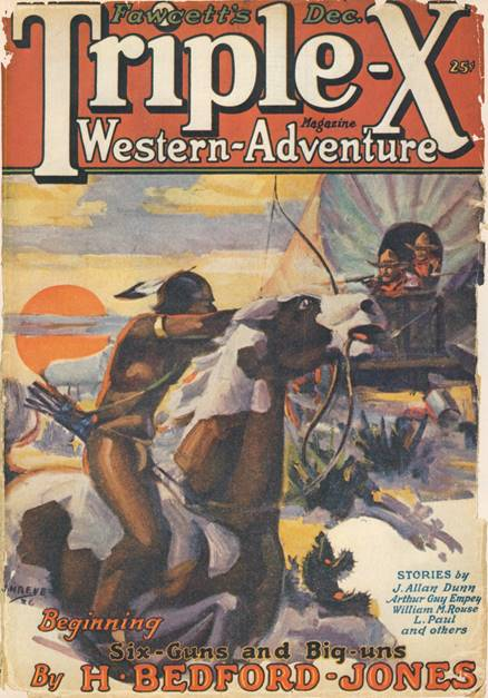 Triple-X pulp magazine published by Fawcett Publications, December 1926 issue
