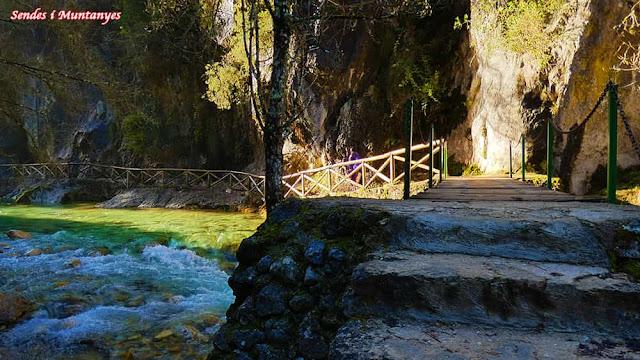 Pasarelas cerrada Elías, río Borosa, Pontones, Sierra de Cazorla, Jaén, Andalucía