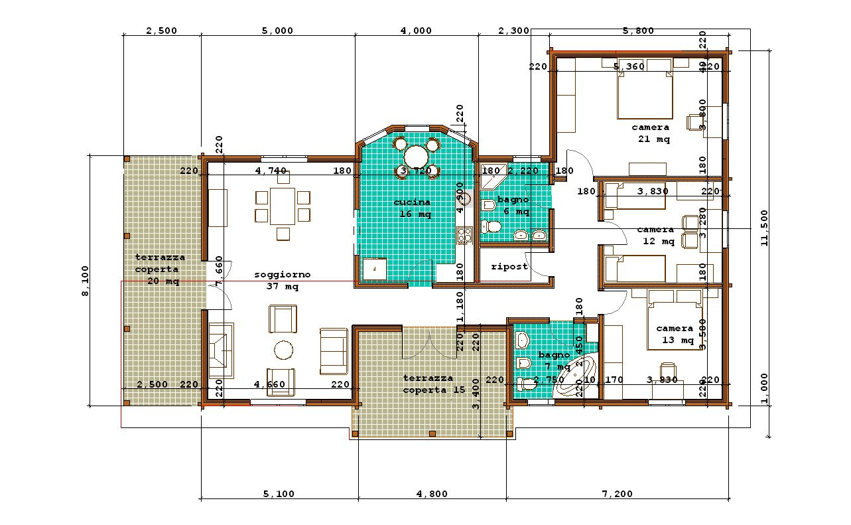 Progetti di case in legno doina 147t35 for Piante di case