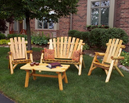 Outdoor Wooden Furniture Living Room Set