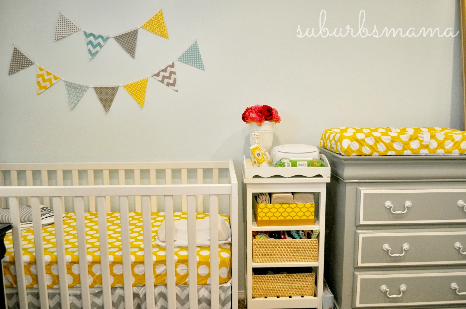Suburbs Mama Nursery In Master Bedroom