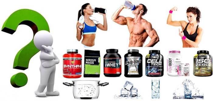 Tanto hombres como mujeres deberían tomar su proteína con agua fría