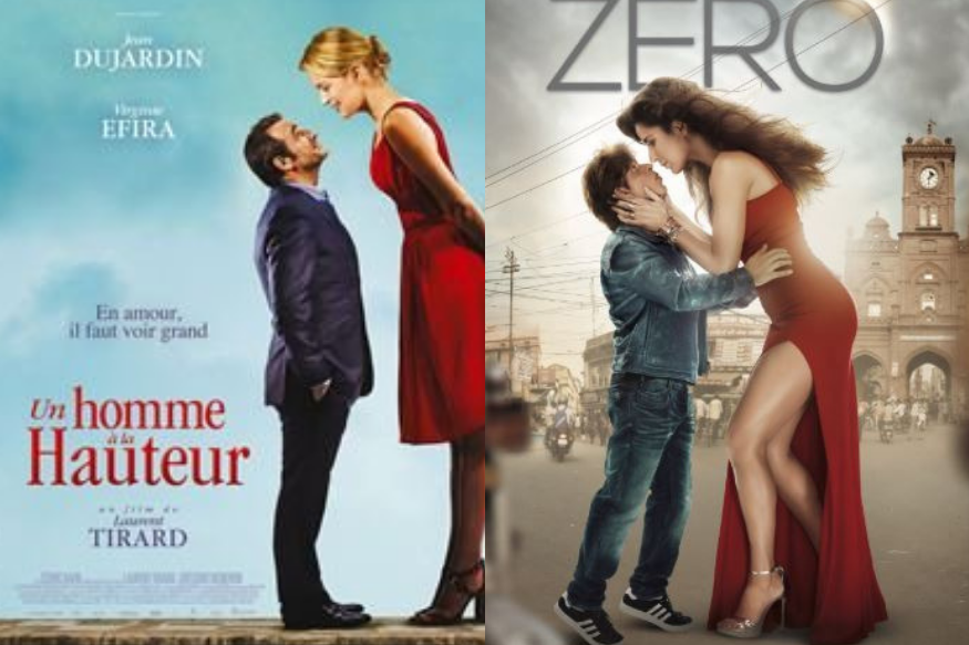 Shahrukh Khan's Zero Movie Poster Copied From The French Movie Un Homme A La Hauteur