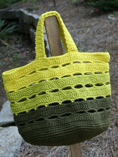 Crocheted Stash Bag / Basket - Free Pattern