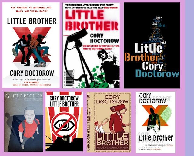 Portadas de la novela de ciencia ficción distópica Pequeño hermano, de Cory Doctorow
