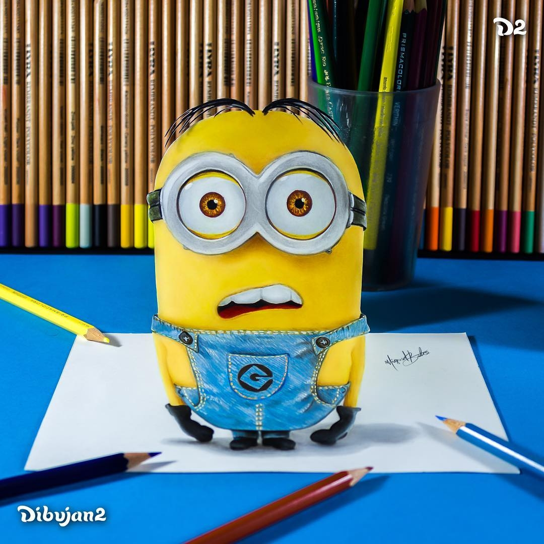 09-Minions-Miguel-Brito-3D-Illusions-with-Drawings-and-Illustration-www-designstack-co