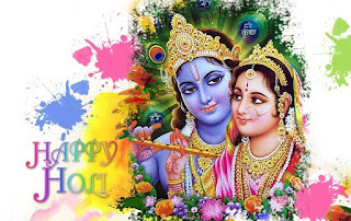 Happy Holi 2017 Cards Of Lord Krishan.