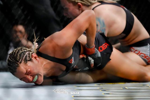 Ashley Yoder def. Amanda Cooper via split decision (29-28, 27-30, 29-28)