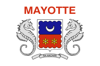 Unofficial flag of Mayotte, used locally