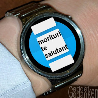 Smartwatch mit Android Wear App-Logo