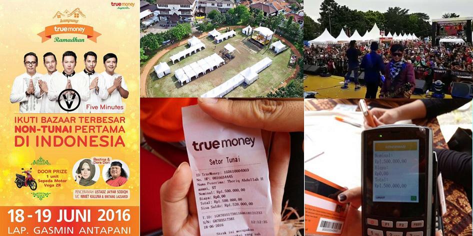 Kampung Ramadan TrueMoney di Lapangan Gasmin Antapani Bandung