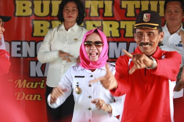 Kesenian Rakyat Jaranan Sambut Kunjungan Pangeran Suri di Rawajitu timur
