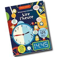 Lire l'heure horloge montre Maternelle Usborne cahier activité blog avis critique chronique