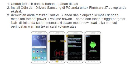 Cara Flash Samsung Galaxy S7 Menggunakan Odin