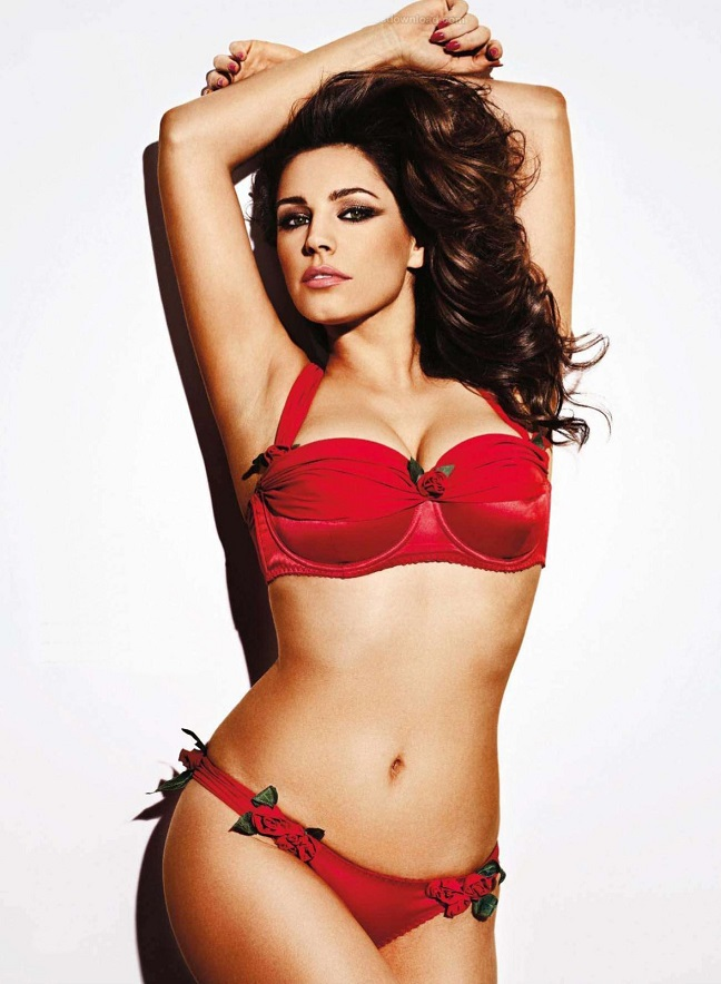 Kelly Brook shows off voluptuous body for Nuts magazine July 2013