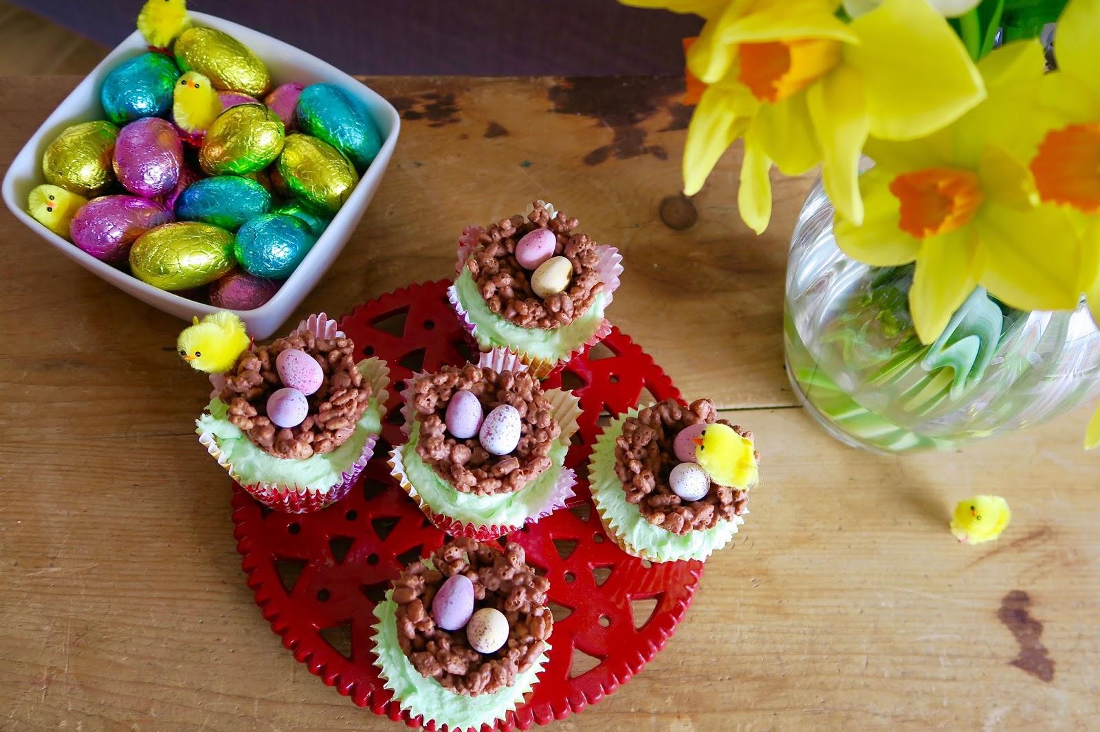 Easter mini egg nest cupcakes