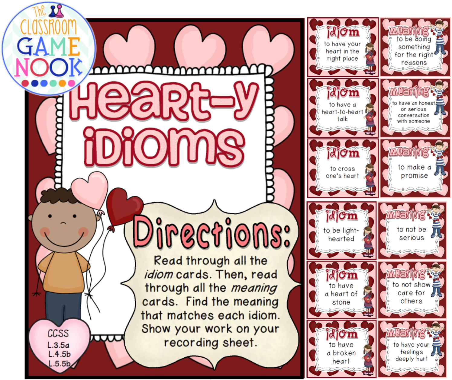 The Classroom Game Nook Valentine S Day Freebies
