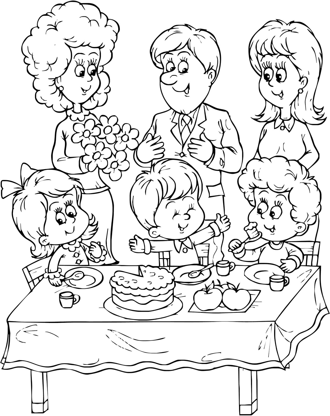 Photograph Families Coloring Pages Family People And Jobs