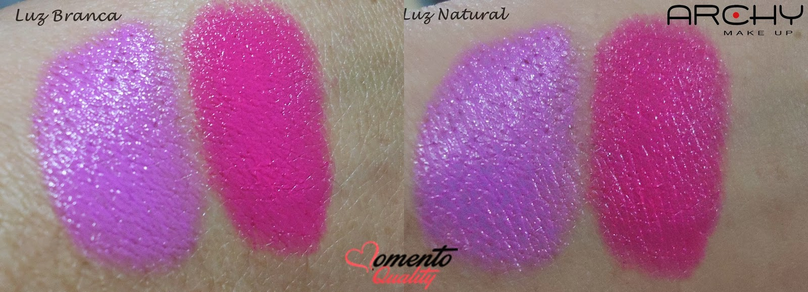 Batom Archy Make Up Swatches Momento Quality