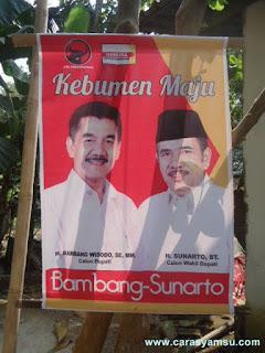 Visi Misi Bambang - Sunarto; Calon Bupati dan Wakil Bupati Kebumen