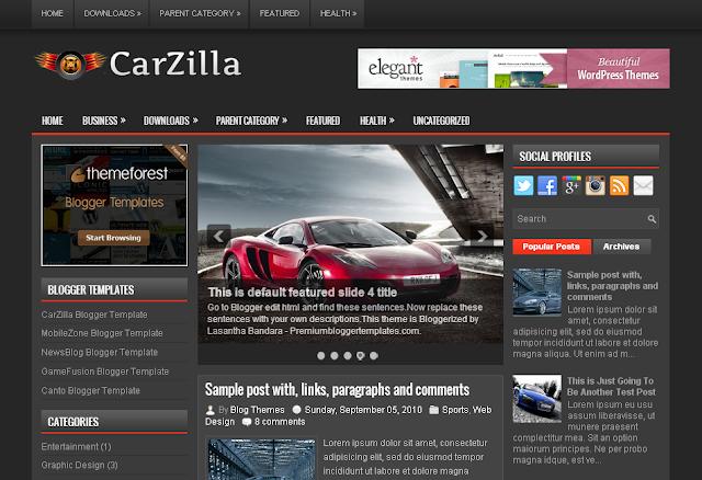 CarZilla free blogger template