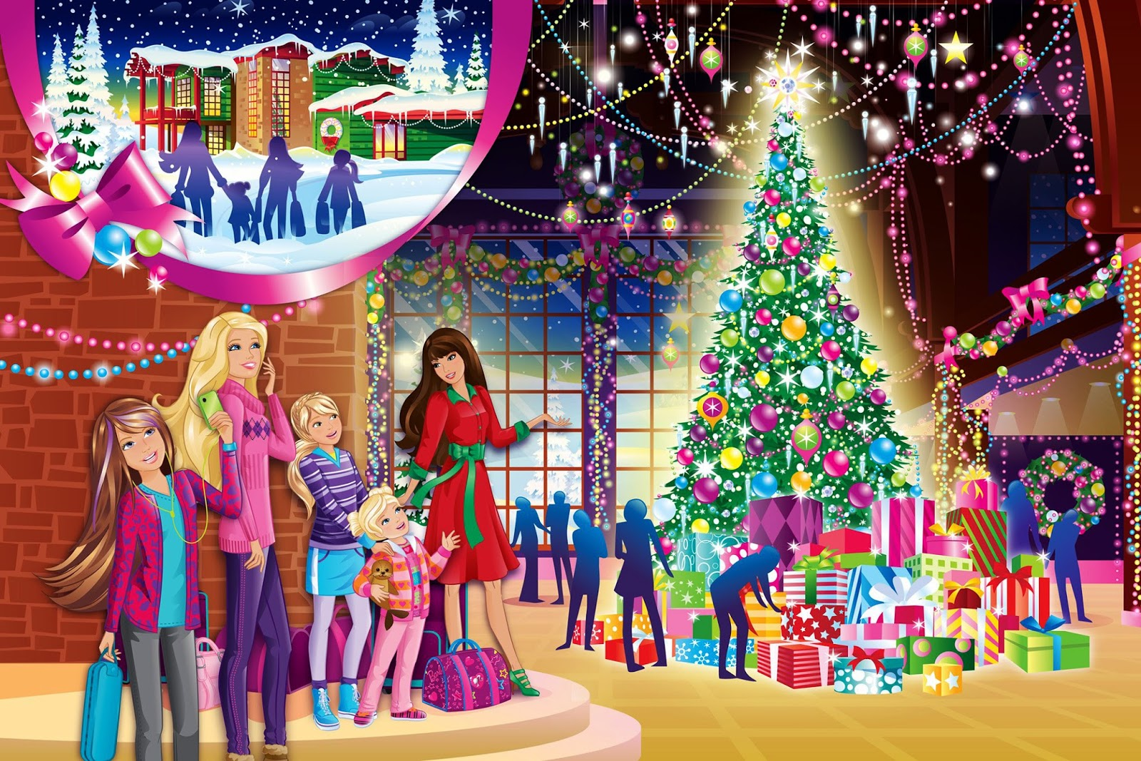 Dibujos De Barbie De Navidad.Nuevo Video De Navidad Para Ninos Wishlist Buddy