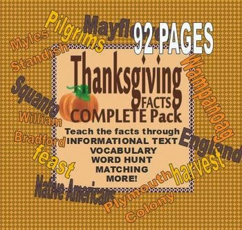 http://www.teacherspayteachers.com/Product/COMPLETE-Thanksgiving-Facts-Pack-950054